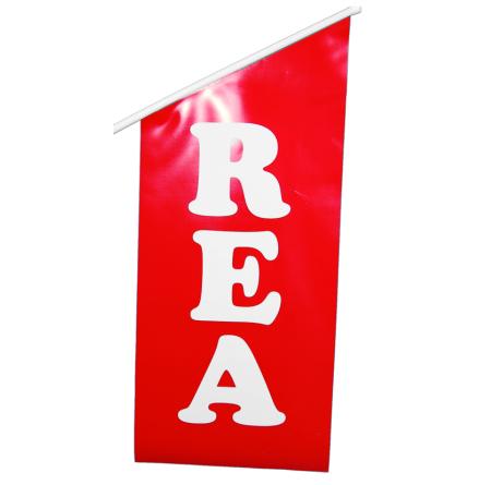 "Butiksflagga stor ""REA"""