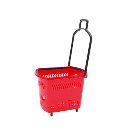 Kundkorg på hjul,45L Röd