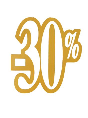Skylt 30%, utskuren