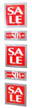 "Skylt ""Sale""/50%"" 5-del 140x34"