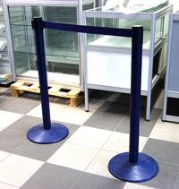 9459 Avspärrningsband 2,4m 2 stolar blått