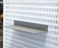 Skohylla 250x100 för v-plåt grå
