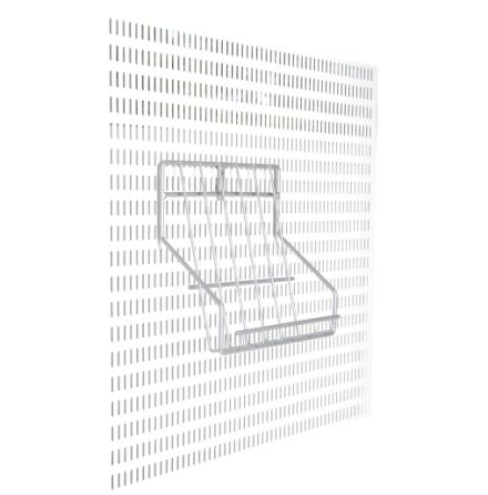 Broschyrfack för väggskena & verktygsplåt