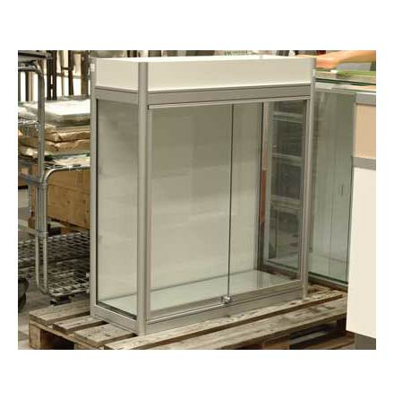 9581 Glasmonter 90x35x100 1 hyllplan